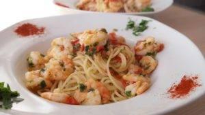Recette de Spaghettis aux crevettes
