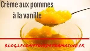 Recette de crème pomme à la vanille