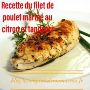 Recette marinée de poulet au citron mariné au tandoori