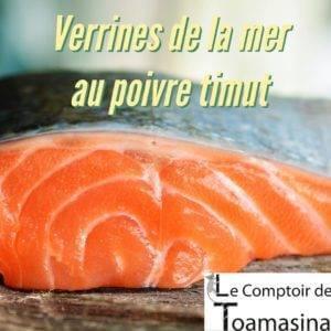 Recette de verrines de la mer au poivre Timut
