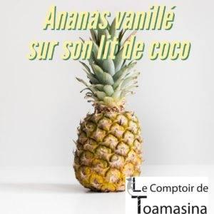 Recette Ananas vanillé sur lit de coco