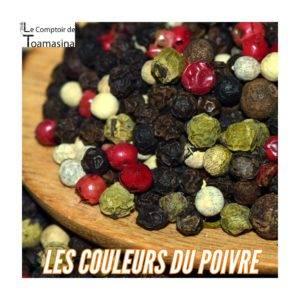 Acheter du poivre vert, rouge, blanc et noir