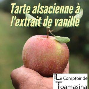 Recette de Tarte alsacienne à l'extrait de vanille