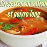 Risotto de crevettes au safran et au poivre long de Java
