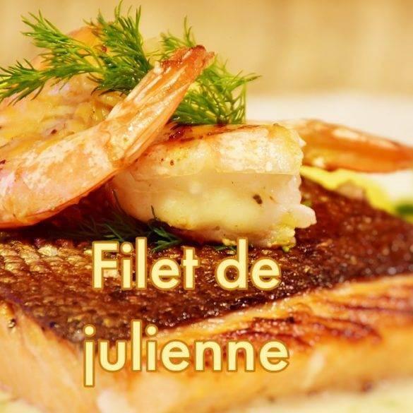 Filet de julienne sauce vanille de Tahiti