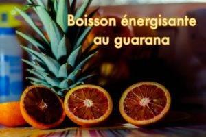 boisson énergisante au guarana