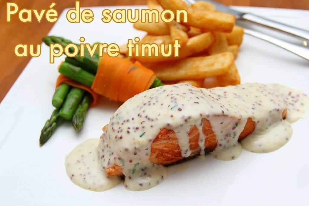 Pavé de saumon au poivre Timut