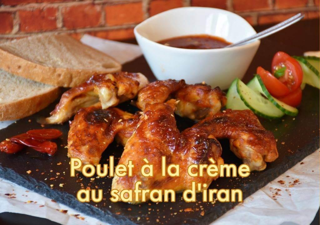 Recette de Poulet à la crème au safran