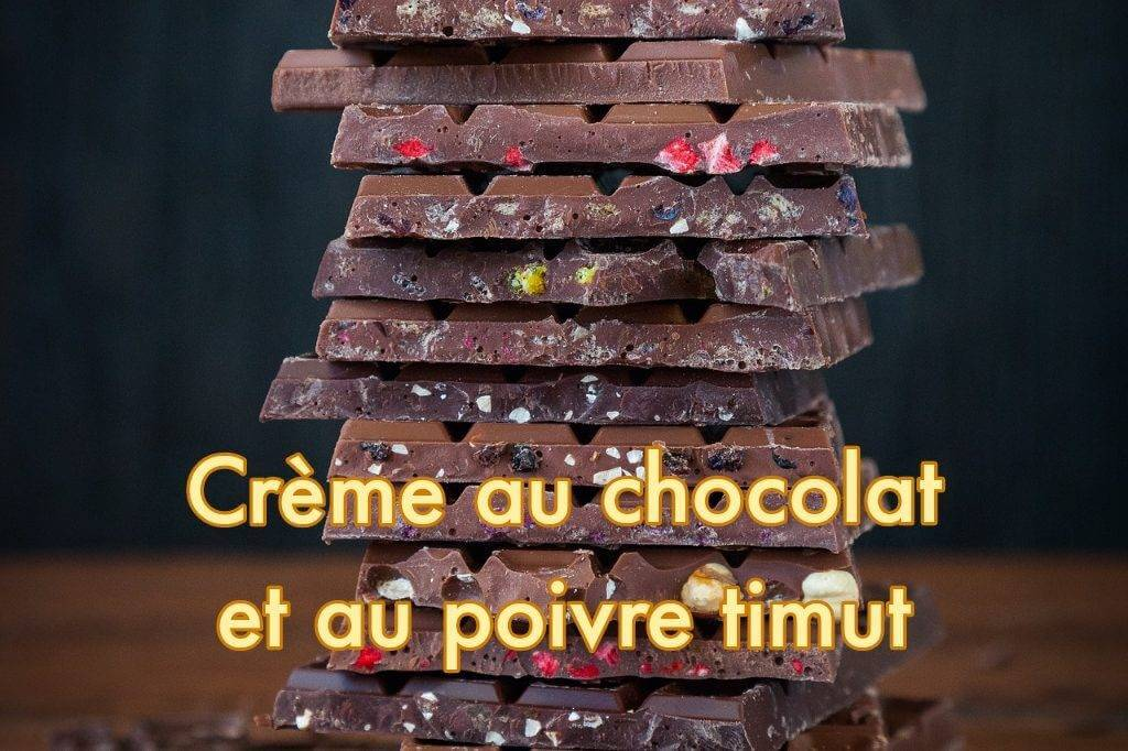 Recette de Crème au Chocolat et au Poivre Timut