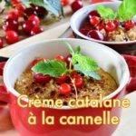 Crème catalane à la cannelle