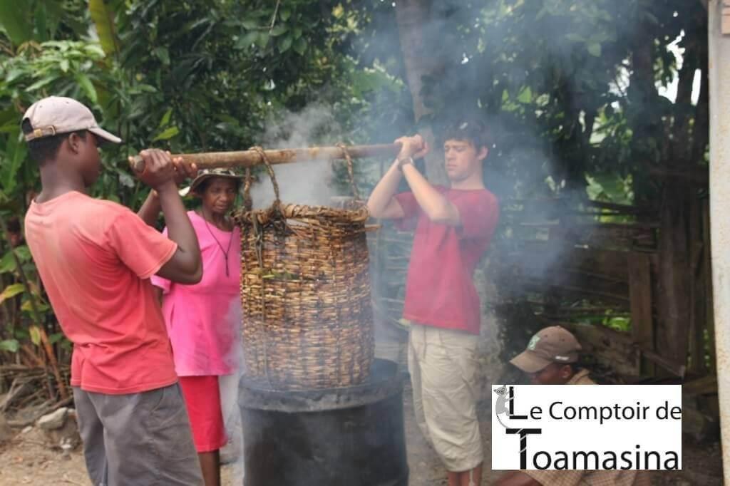 échaudage de la vanille de Madagascar avec Arnaud Vanille