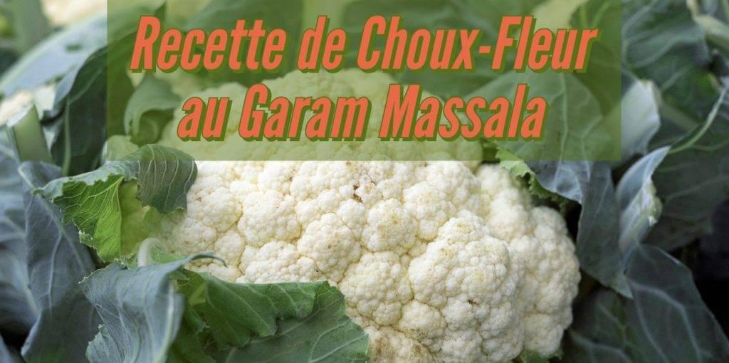 Recette de Choux-Fleur au Garam Massala