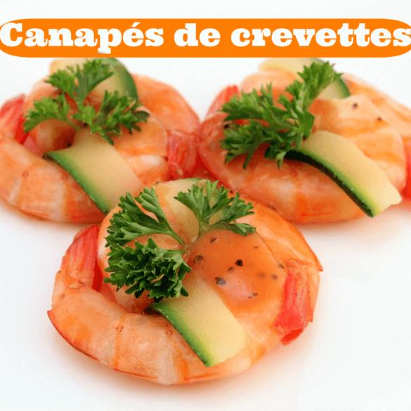 Recette de Canapés aux crevettes