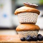 Recette de Muffins aux myrtilles et à l'extrait de vanille