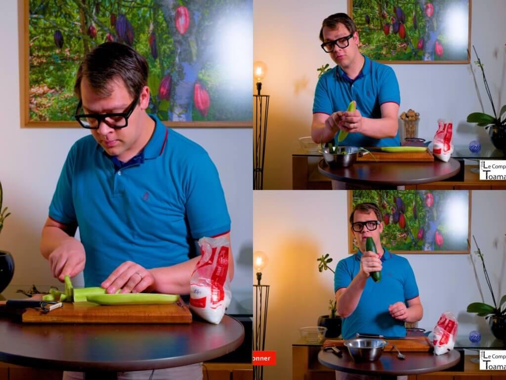Comment dégorger un concombre (1)