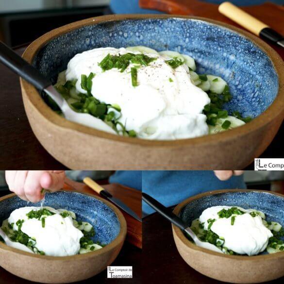 Comment faire un concombre au yaourt
